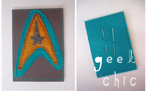 Geek Chic--Comm badge needleholder