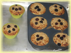 MUFFINS DE MORAS Y QUESO COTTAGE