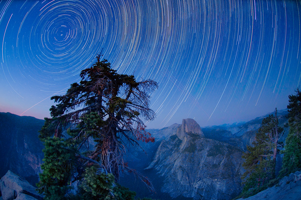 Star Trails over Half Dome © Harold Davis