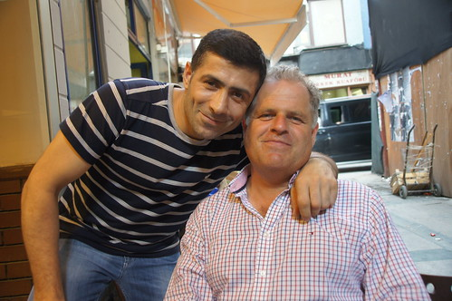Saying our farewells in Istanbul - Arif and Fred by CharlesFred