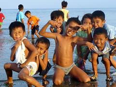 Children at the Beach (edpcv) Tags: boy beach asia child dumaguete filipino oriental visayas negros 2011 visaya calindagan