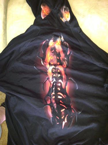 back of Falling Skies hoodie
