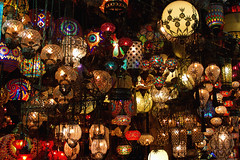 Colors of the East II (Theophilos) Tags: colors lights market istanbul lamps constantinople