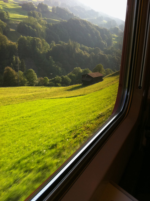 Zugfahrt um Küblis