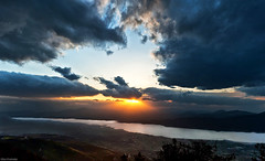,  [explored] (Nick-K (Nikos Koutoulas)) Tags: sunset lake greece   kozani