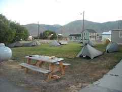 Hiker Tent City in Leadore