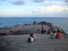 Koh Samui, Lamai beach (Stewie1980) Tags: people beach thailand rocks tourists finepix samui fujifilm koh lamai a700   fujifilmfinepixa700