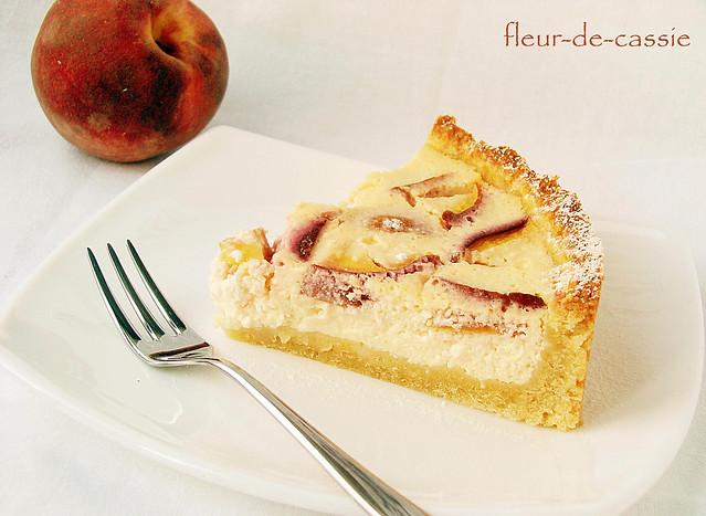 пирог творожно-персиковый