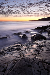 Evening in blue & gold (Marc Briggs) Tags: ocean sunset beach clouds nikon pacific gaviotacoast silkywater refugiostatebeach d7000 dsc5212b
