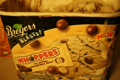 Breyers Whoppers ice cream