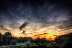 My Old Kentucky Home (JGo9) Tags: sunset night rural canon landscape eos rebel cloudy kentucky ky country hdr smalltownusa cloudynight t1i