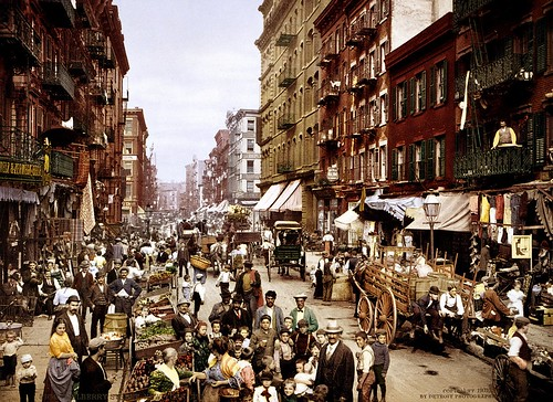 New York - Mulberry Street 1900