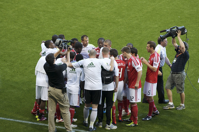 Timbers Huddle Before Trouncing LA Galaxy