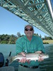 Dick enjoys one of many trophy Lower Sacramento River Rainbows on this beautiful summer day