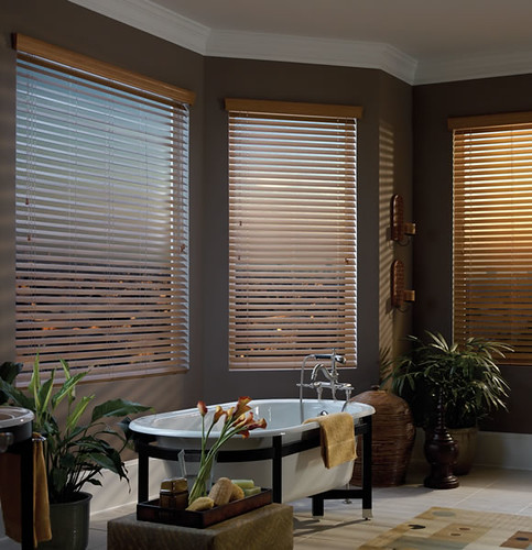 large faux wood blinds