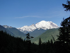 Early views of Rainier from lower Crystal Lakes trail.