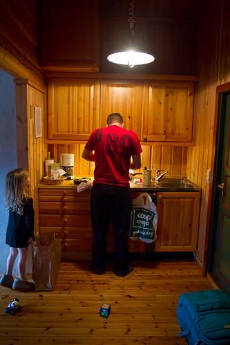 Far lager middag