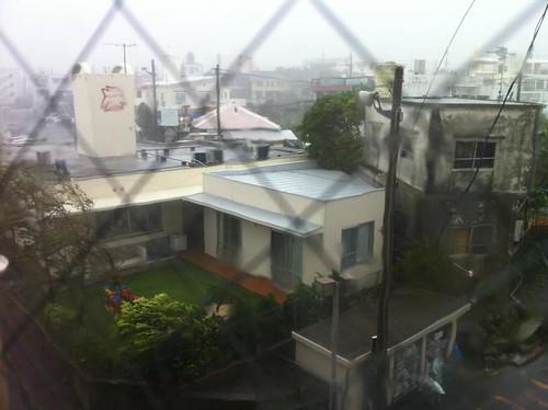 台風9号直撃で暴風!