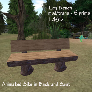 Log Bench - The South 40/B&D Designs 50L$