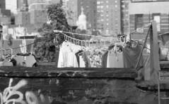 rooftop wash, lower manhattan (triebensee) Tags: nikon f2 f25 105mm ilfordfp4plus kogaku photomic nikkorp dp11