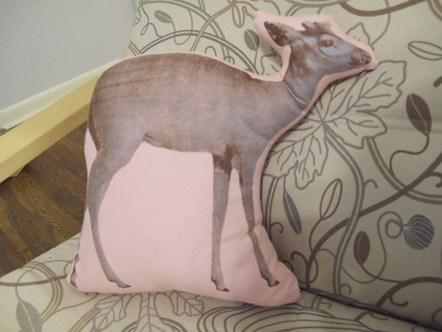 My deery pillow I got at a yard sale for a quarter!