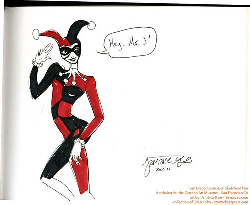 SDCC2011 art commission - Harley Quinn