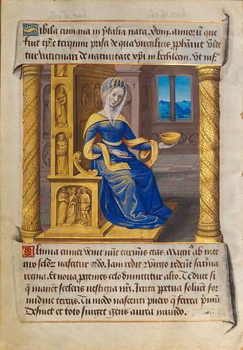 001-Sibila Cumana-Sibylla Prophetae et de Cristo Salvatore vaticinantes-1490- BSB Cod. icon. 414-Münchener DigitalisierungsZentrum