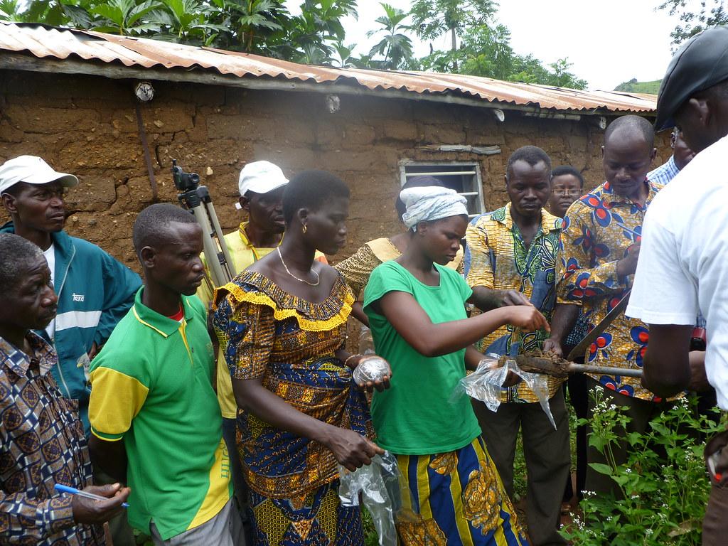 Echange champ école Togo