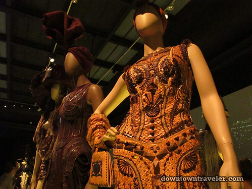 Jean Paul Gaultier python dress at Montreal Musee des Beaux Arts