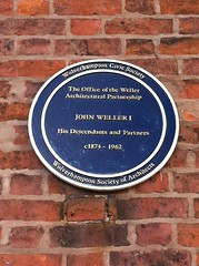Photo of Weller Architectural Partnership and  John Weller I blue plaque