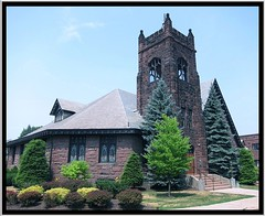 Park Presbyterian Church ~ Beaver PA (Onasill ~ Bill Badzo) Tags: park county brown tower church glass stain stone architecture place pennsylvania district united gothic entrance style historic beaver holy pa register presbyterian registry revival nrhp onasill