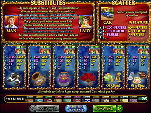 free Glitz and Glamour slot game symbols