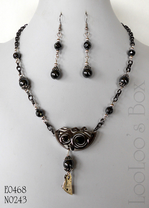Steampunk Guilloché Necklace #N0243