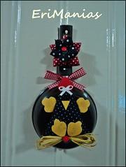 *-* Mini Frigideira *-* (EriManias) Tags: de galinha flor mini porta fuxico feltro cozinha enfeite frigideira falinha dangola
