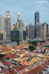 Chinatown Singapore #1. (Reggie Wan) Tags: city tourism skyline architecture singapore asia southeastasia chinatown cityscape aerialview cbd highrisebuilding srimariammantemple moderncity asiancity reggiewan sonya850 sonyalpha850 gettyimagessingaporeq1