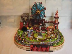 FABULAND FUN FAIR VIDEO (Brickbaron) Tags: train movie airplane paul video lego disneyland award amusementpark locomotive funfair legoland shootinggallery 12volt 2011 hetherington wackamole brickcon brickbaron bestintrain