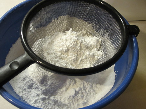 sift the confectioners' sugar