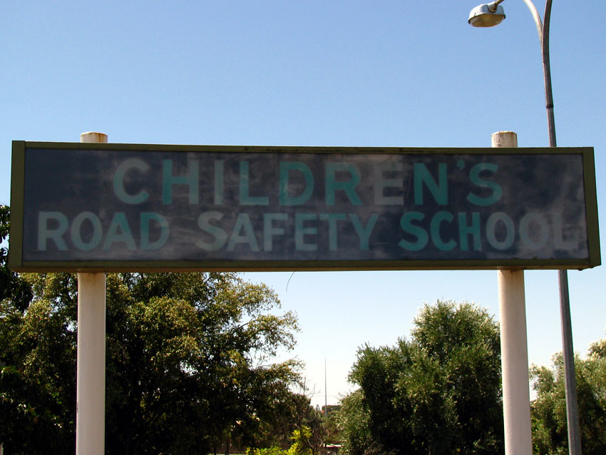 Children's Road Safety School Sign, Adelaide