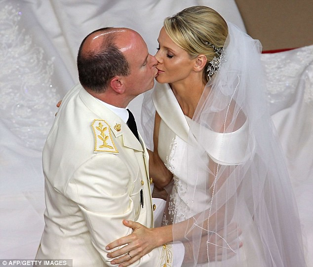 The Princess bride  Monaco  Charlene and Prince Albert ceremony The Princess bride  Monaco  Charlene and Prince Albert ceremony  2