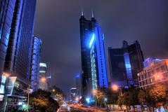 Shennan Road Shenzhen (arjalvaran) Tags: china road city urban architecture night nikon asia cityscape central shenzhen cbd   centralbusinessdistrict  futian citynightshot shennan shenzhencity futiandistrict futianshenzhen shennanroadshenzhen shennanave