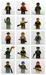 Zombie Apocalypse Survivors (Hessianizer) Tags: torino mac mod gun lego baseball m1 10 zombie rifle bat apocalypse knife off criminal cocktail human micro pistol axe modified undead gran machete shotgun handgun molotov citizen thug survivor silenced uzi l4d cleaver garand apoc sawn brickarms l4d2