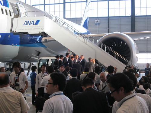 ANA ボーイング787 日本初飛来メディアイベント