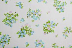 Vintage Sheet - Sweet Blue (Jeni Baker | In Color Order) Tags: floral vintage recycled linen july sheets fabric sheet bedding repurposed bedsheet reused 2011