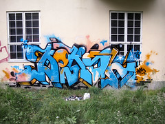 (MisterBruceWayne) Tags: blue graffiti wps deksel