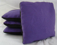 Purple & Black Suede Dual Sided Cornhole Bags