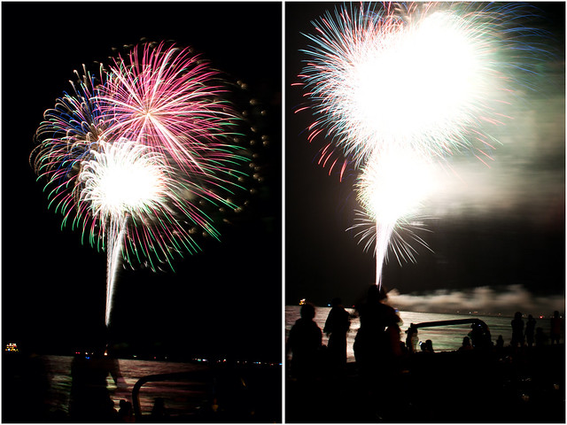 July 4th fireworks diptych 24