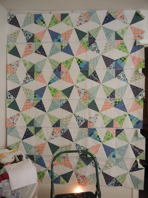 Kaleidoscope QAL - it's starting to look like a quilt!!