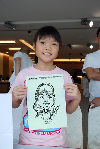 Caricature live sketching for Sime Darby Select Open House Day 2 - 17