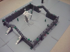 Lego Yavin Temple WIP (awesum2movies) Tags: temple star lego wip wars clone yavin droids