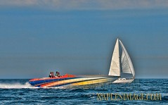 Close Contest... not! (jay2boat) Tags: boat offshore powerboat boatracing boynethunder naplesimage
